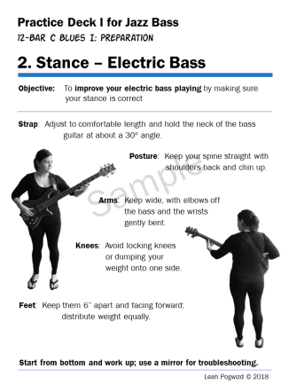 Stance for Electric Bass