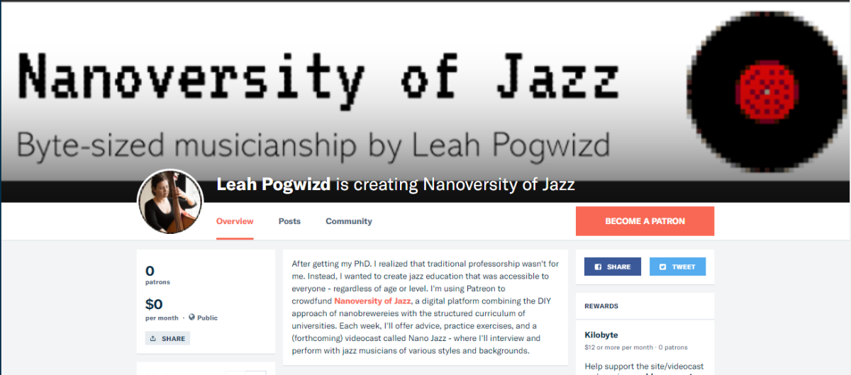 Patreon for Nanoversity of Jazz