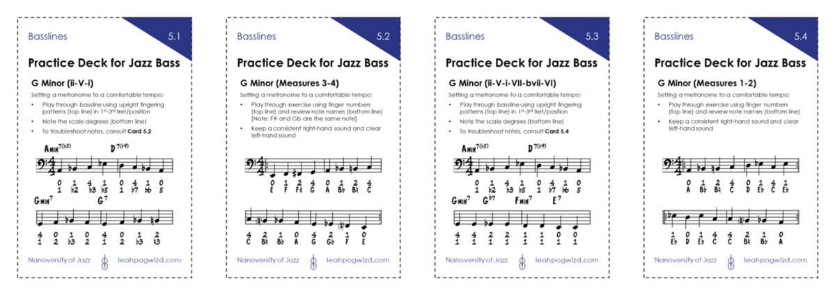 Jazz Bass Practice Deck5